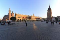 Central fyrkant av Krakow Royaltyfria Foton