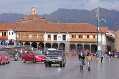 Central fyrkant av staden - Plaza de Armas Royaltyfri Bild