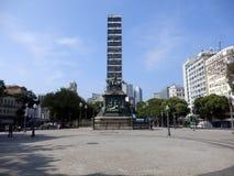 Central fyrkant i mitten av Rio de Janeiro royaltyfri foto