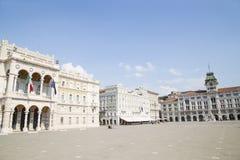 Central fyrkant i Trieste fotografering för bildbyråer