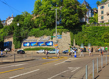 Central fyrkant i Zurich, Schweiz Arkivbilder