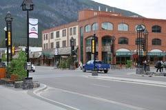 Central gata av Banff Royaltyfri Bild