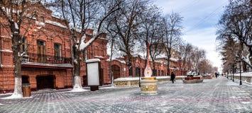 Central gata i Petropavlovsk royaltyfria bilder