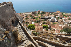 Central gate of upper town of Monemvasia, Greece Royalty Free Stock Photo