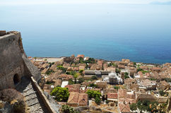 Central gate of upper town of Monemvasia Royalty Free Stock Image