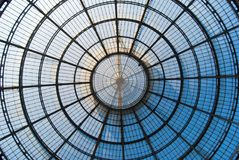 Central glazing of Vittorio Emanuele in the center of Milan royalty free stock images