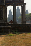 Central gopura towers of Angkor Wat Stock Photos