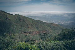 Central Gran Canaria, view from the top of mountain Royalty Free Stock Photography