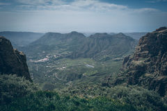 Central Gran Canaria, view from the top of mountain Royalty Free Stock Image