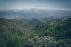 Central Gran Canaria, view from the top of mountain Stock Image