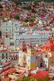 Central Guanajuato. Main buildings of the city of Guanajuato in mexico stock photo