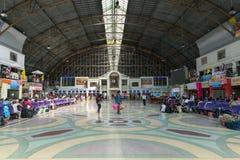 Central hall of Hua Lamphong Railway Station in Bangkok. Royalty Free Stock Images
