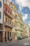 Central Havana dos prédios de apartamentos Imagens de Stock