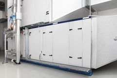 Central heating and cooling air handling system. Control Stock Photography