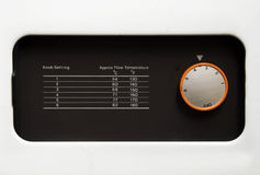 Central Heating Dial. And temperature chart Royalty Free Stock Images
