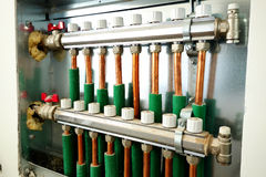 Central heating distributor Stock Image