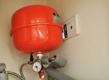 Central Heating Expansion Tank Stock Image
