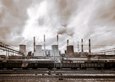 Central Heating and Power Plant. Stock Images