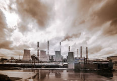 Central Heating and Power Plant. Stock Photos