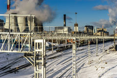 Central Heating and Power Plant Stock Images