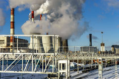 Central Heating and Power Plant Royalty Free Stock Photography