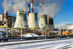 Central Heating and Power Plant Stock Photo