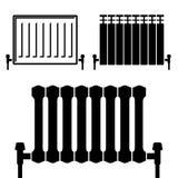 Central heating radiator black symbols Stock Photography