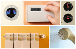 Central heating set photos stock images