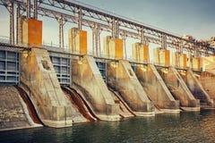 Central hidroeléctrica eléctrica Foto de archivo libre de regalías