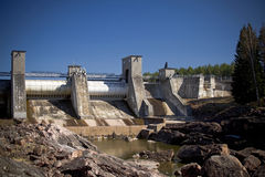 Central hidroeléctrica en Imatra Fotos de archivo