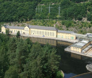 Central hidroeléctrica en Thuringia Fotografía de archivo