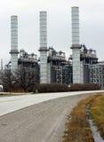 Central hidroeléctrica encendida carbón Imagenes de archivo