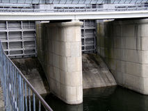 Central hidroeléctrica enfoca adentro Fotos de archivo