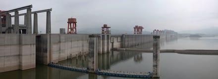 Central hidroeléctrica Three Gorge Dam en el río Yangzi en China Imágenes de archivo libres de regalías