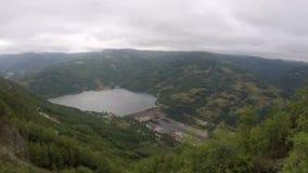 Central hidroeléctrico en el río almacen de video
