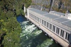 Central hidroeléctrica Imagen de archivo libre de regalías