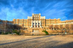 Central High School. Site of the 1957 standoff between the federal government and the state of Arkansas. Dwight D. Eisenhower dispatched the 101st Airborne to Royalty Free Stock Photos