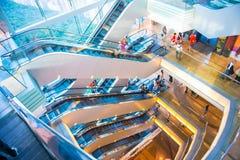 Central, Hong Kong - 21 de septiembre de 2016: escalera móvil en el pico Imagen de archivo libre de regalías