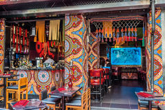 Central Hong Kong de Soho de restaurant de personnes images stock