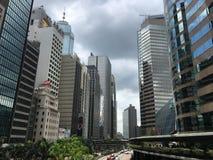 Central Hong Kong för finansiell mitt Royaltyfria Foton