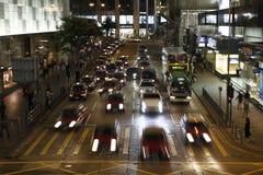 central Hong Kong gata Fotografering för Bildbyråer