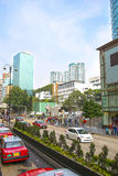 Central Hong Kong highway street traffic and skyline view Stock Photography