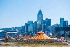 Central Hong Kong - Januari 10, 2018: AIA den stora europén Ca royaltyfri fotografi