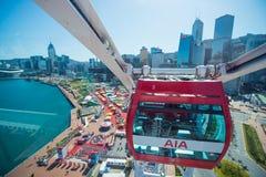 Central Hong Kong - Januari 10, 2018: Hong Kong Observation Arkivbilder