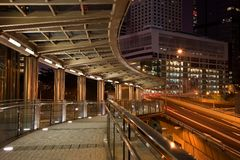 Central Hong Kong by night Stock Photography