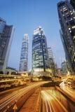 Central Hong Kong at night. Stock Photos