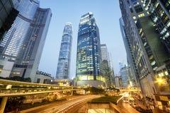 Central Hong Kong at night. Royalty Free Stock Images