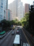 As the rush hour approaches, the traffic on Garden Road gets busier stock photos