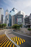 Central Hong Kong street skyline view Royalty Free Stock Photography