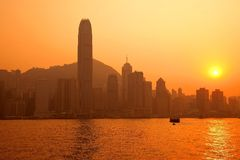 Central Hong Kong by Sunset Stock Photos